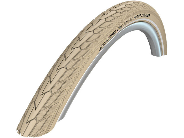 "SCHWALBE Road Cruiser Pneu 26"" K-Guard Active Reflex, creme"
